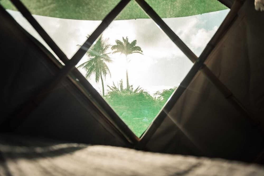 Cabana de Madeira Básica - Vista a partir das Varandas