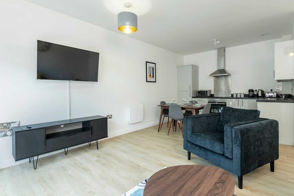 Departamento básico, 2 camas dobles - Sala de estar