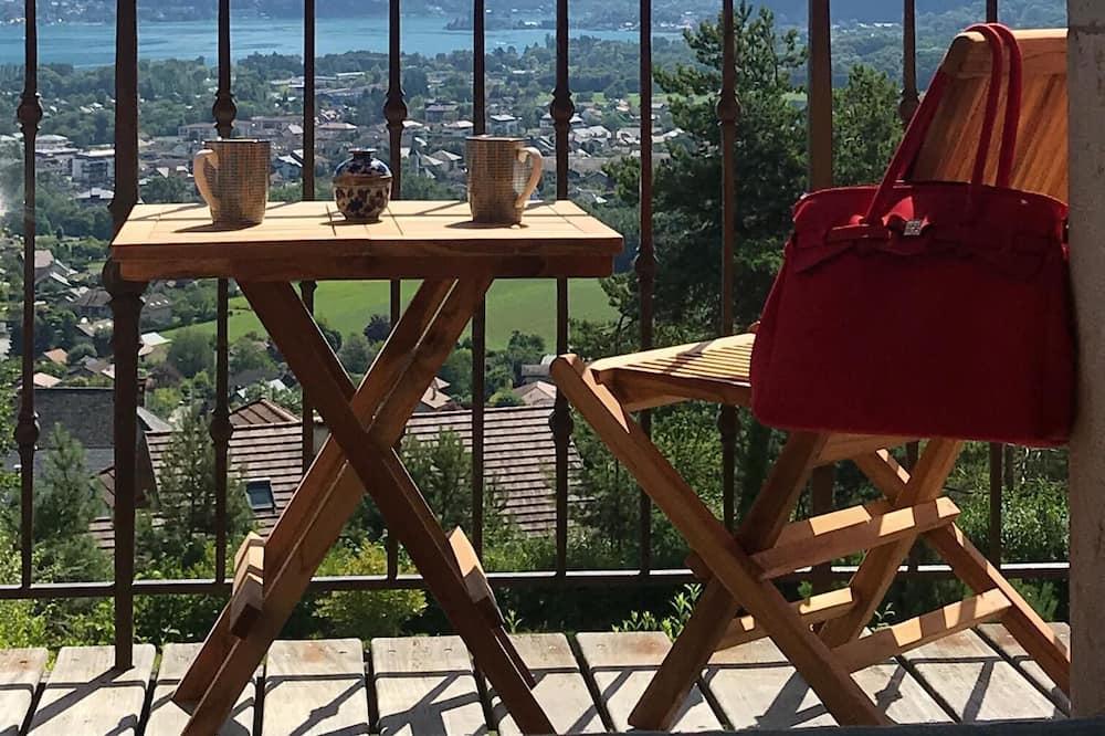Doppelzimmer, eigenes Bad, Seeblick (Deluxe) - Blick vom Balkon