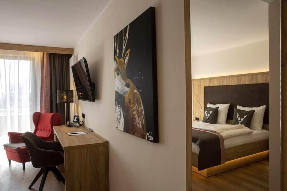 Habitación doble Deluxe, 1 cama doble, con acceso para silla de ruedas, vista al valle - Sala de estar