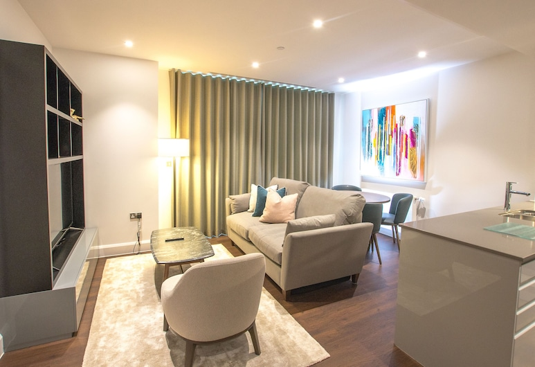 Charles Hope Apartment Canary Wharf, London, Business Apartment, 1 Bedroom, Living Area
