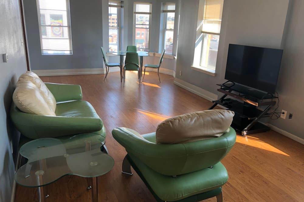 Casa (Spacious,elegant 2BR apartment in Dub) - Sala de Estar