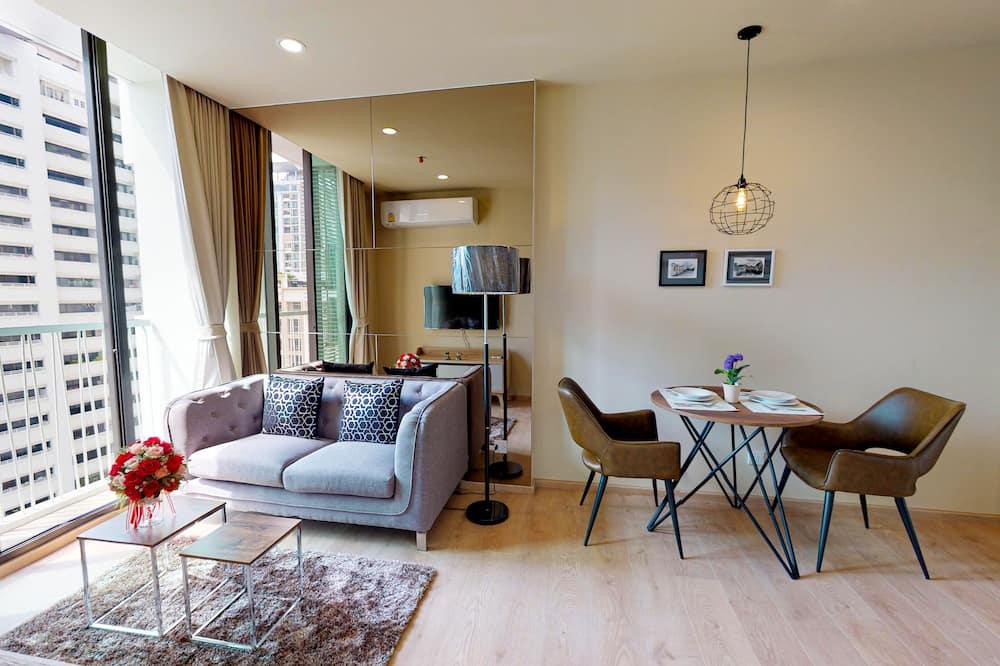 דירה, חדר שינה אחד, מטבח - סלון