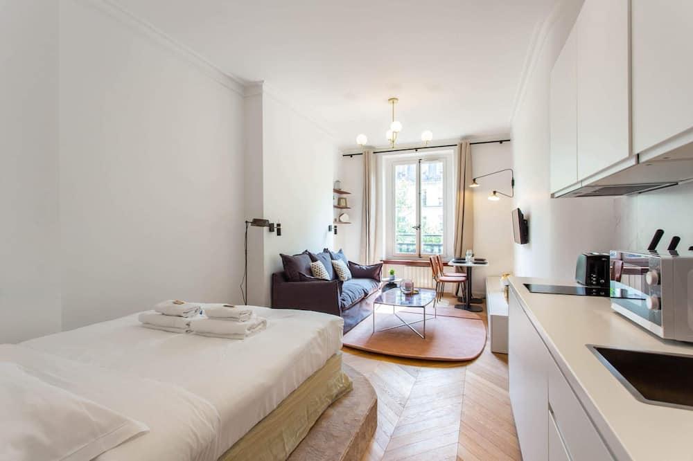 Monolocale Basic, 1 letto matrimoniale con divano letto - Camera