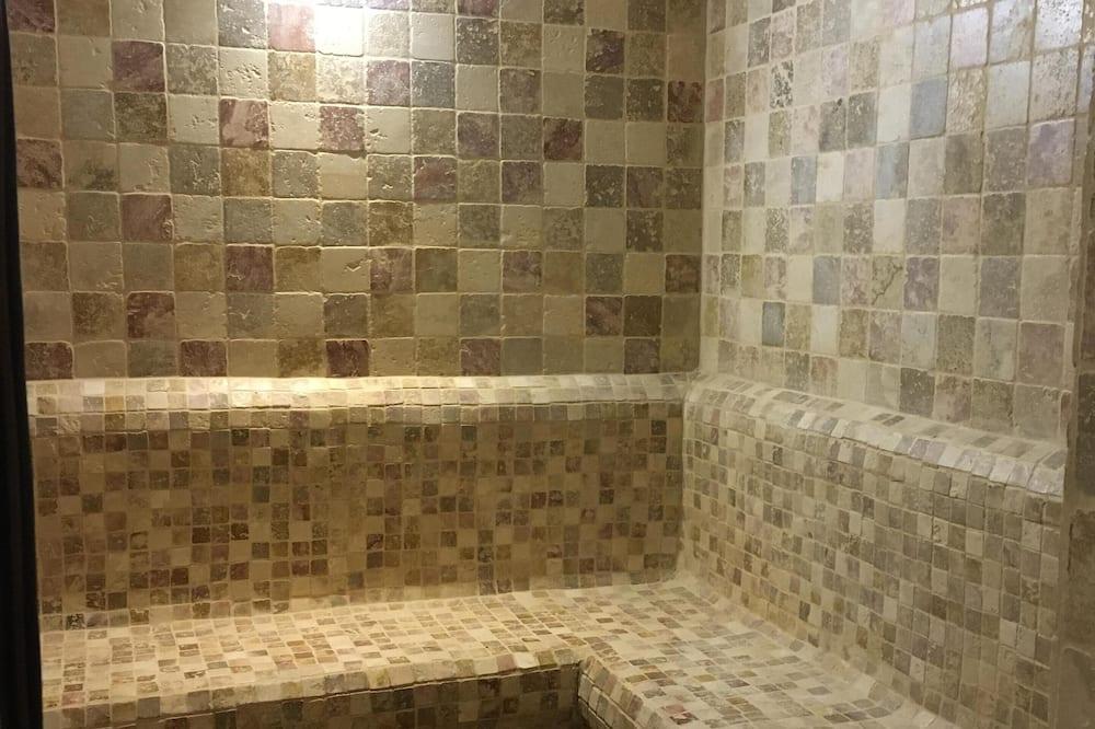 Comfort-huoneisto, Makuuhuoneen yhteydessä oleva kylpyhuone, Näköala puistoon (HOMMAGE) - Kylpyhuone