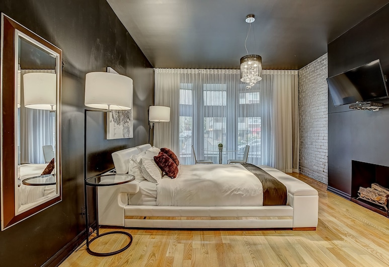 Drummond Downtown Montral Studio Near Sofitel302-feel Like a Boutic Hotel st, Montreal, Habitación