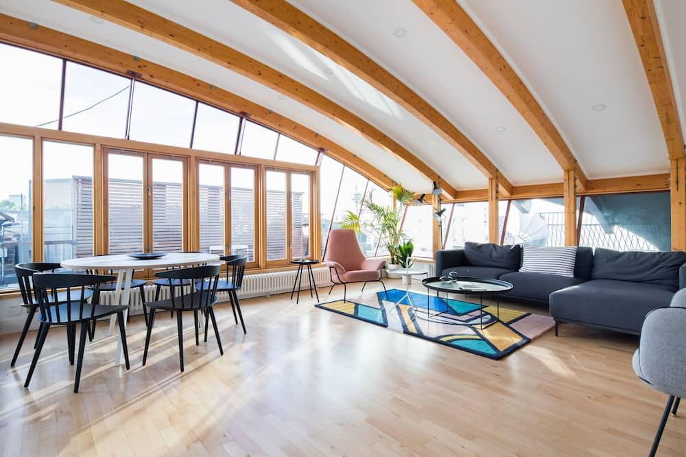 Suite panorámica, 3 habitaciones, terraza - Sala de estar