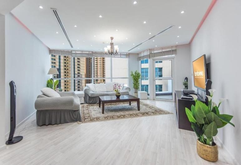 بي إن بي مي - 4 غرف - 23 مارينا - 1206, دبي, شقة ديلوكس - ٤ غرف نوم, غرفة معيشة