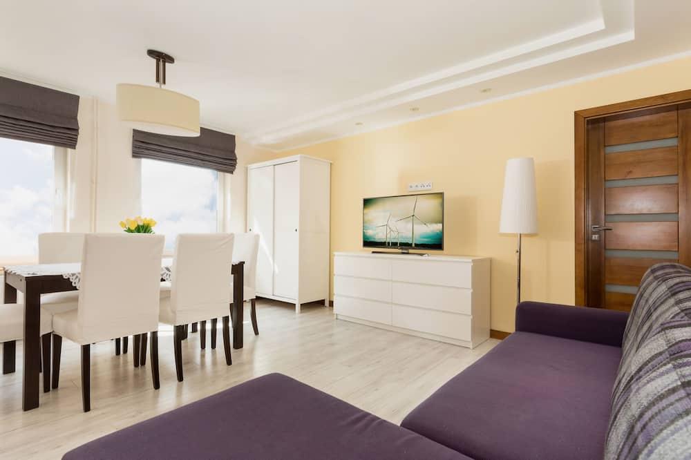 Appartement, 3 chambres, cuisine, vue jardin - Salle de séjour
