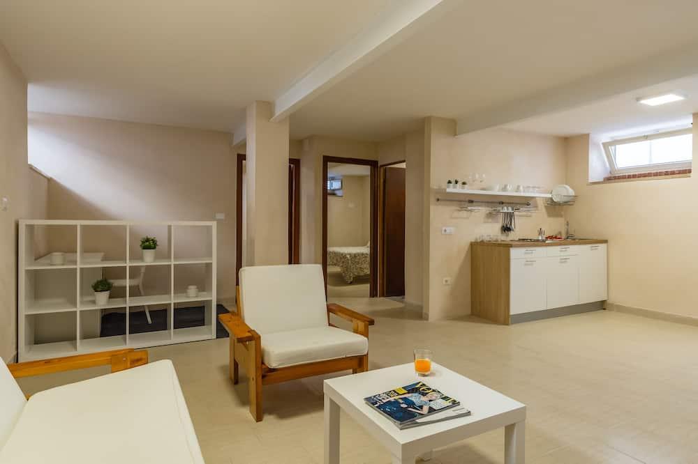 Apartment, 2Schlafzimmer, Terrasse, Meerseite - Wohnbereich