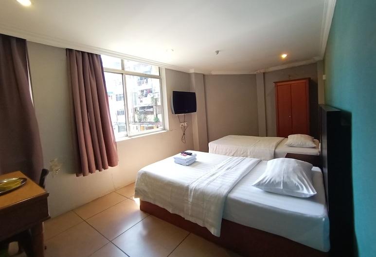OYO 90129 River Park Hotel, Sibu, Pokoj Deluxe se dvěma jednolůžky, Pokoj
