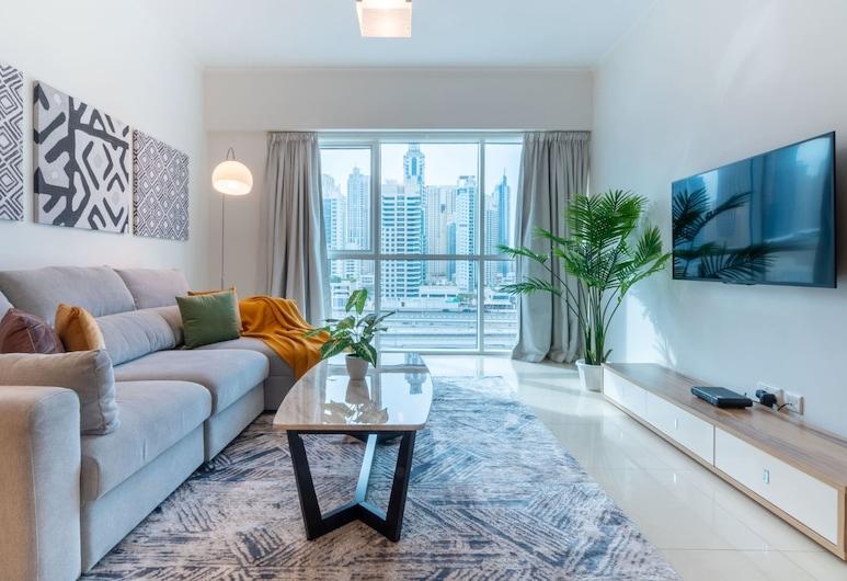 Guestready - Stylish Apartment With Panoramic Views of Dubai Skyline, Dubai, Nappali