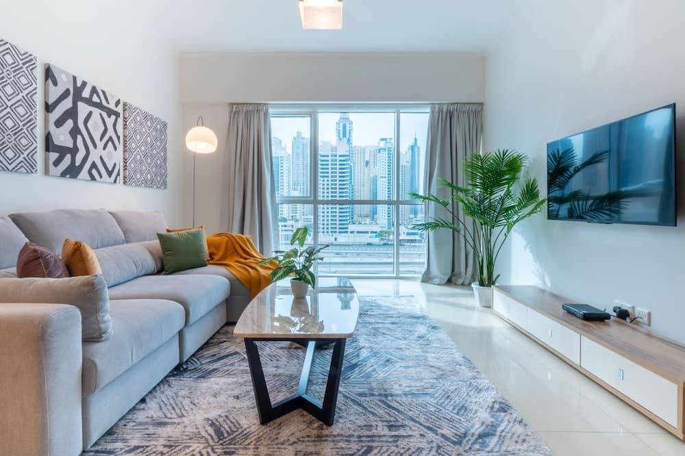 Apartemen Basic, 1 Tempat Tidur Queen dengan tempat tidur Sofa - Ruang Keluarga