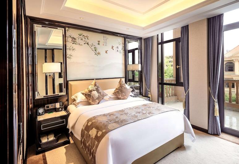 Ramada Plaza by Wyndham Yiyang Nanxian, ייאנג, חדר דה-לוקס, מיטת קינג, למעשנים, חדר אורחים