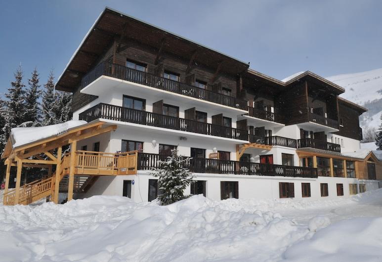 Hotel de la Valentin, Centro de Ski Les Deux Alpes, Fachada del hotel