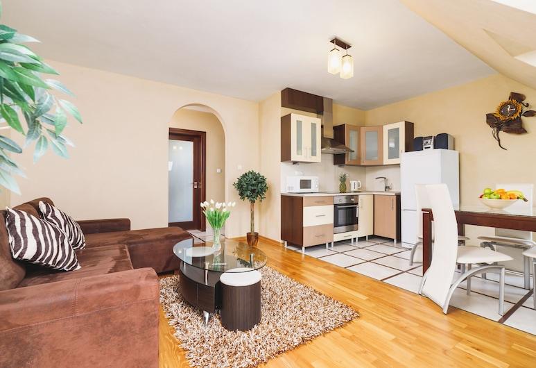 Apartments Brzozowa Zakopane by Renters, زاكوباني, شقة - غرفة نوم واحدة - بشرفة, منطقة المعيشة