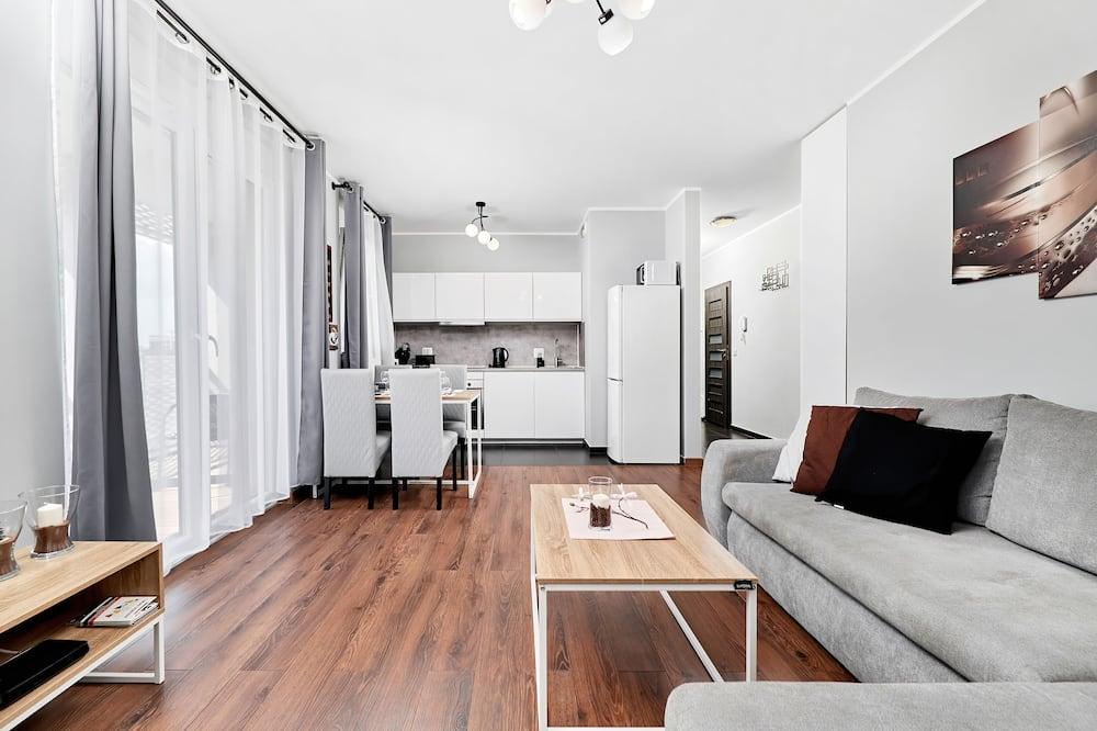 アパートメント 1 ベッドルーム キッチン - リビング エリア