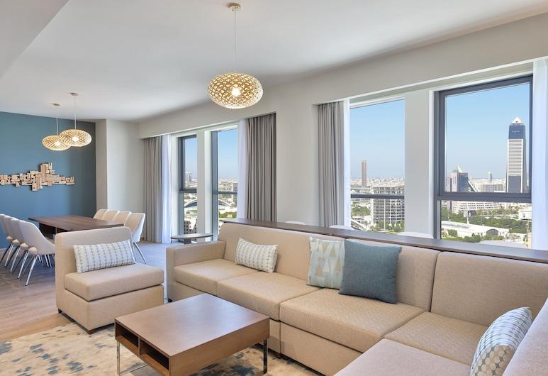Element Al Jaddaf, Dubai, Dubai, Appartamento, 1 camera da letto, vista (Creek View), Area soggiorno
