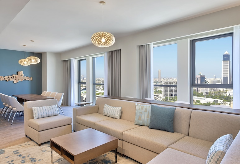 Element Al Jaddaf, Dubai, Дубай, Апартаменты, 1 спальня, вид (Creek View), Зона гостиной
