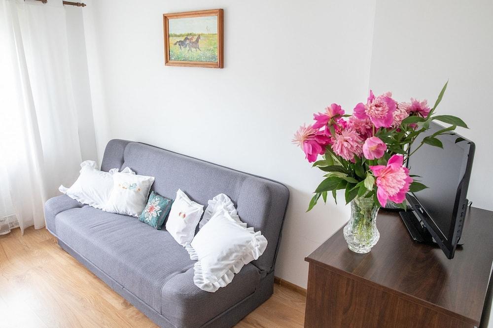 Deluxe-Apartment, 2Schlafzimmer, Balkon, Bergblick - Wohnzimmer
