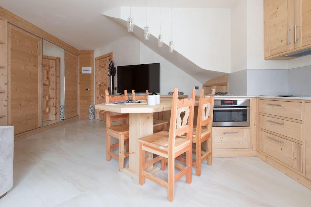 Apartmán, 2 spálne, kuchynka, výhľad na hory - Obývacie priestory