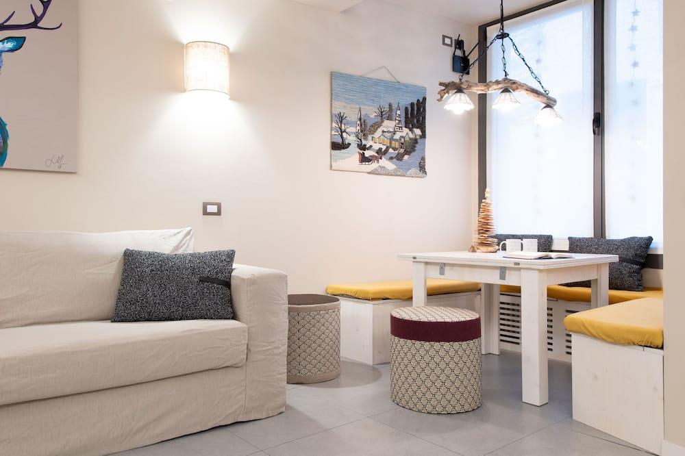 Apartmán, více lůžek, kuchyňský kout, přízemí - Obývací prostor