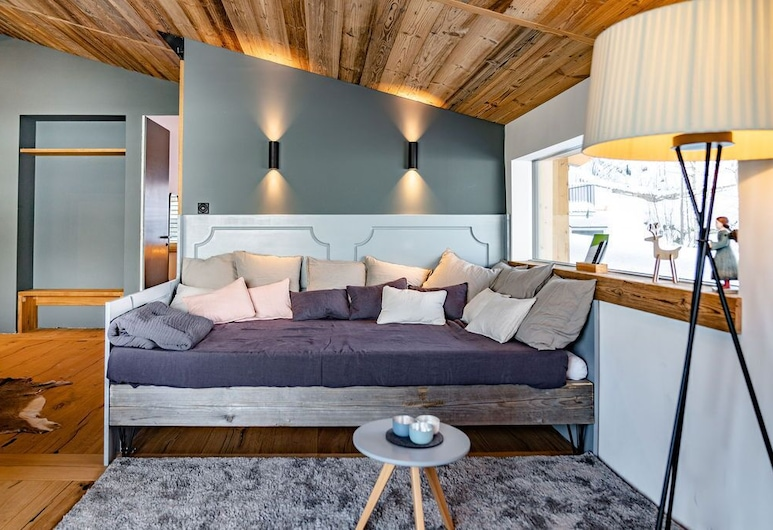 Panorama Lodge Schladming, Schladming, Penthouse, 3 spavaće sobe (White Gold), Dnevni boravak
