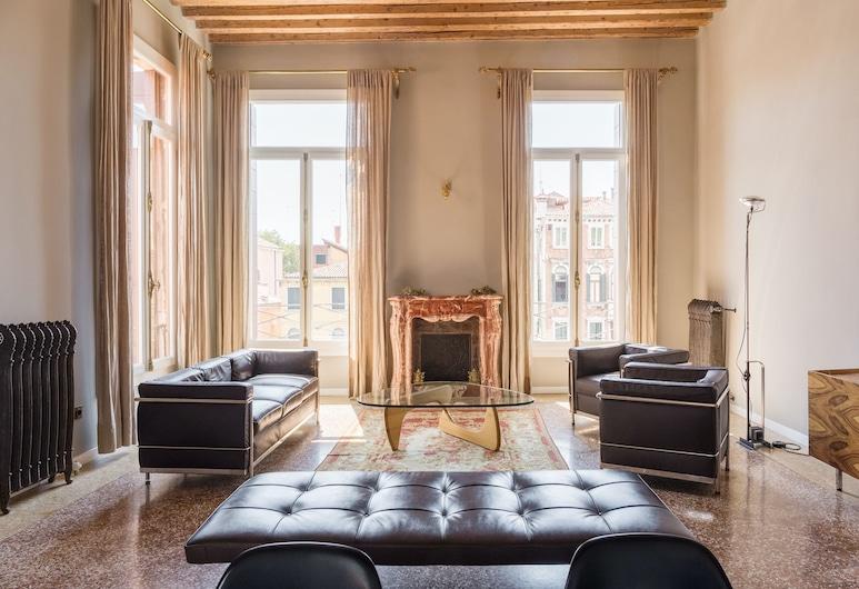 Cà Bellavista, Βενετία, Deluxe Διαμέρισμα, 1 Υπνοδωμάτιο, Θέα στο Κανάλι, Περιοχή καθιστικού