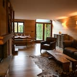 Familjestuga - eget badrum - utsikt mot bergen - Lounge