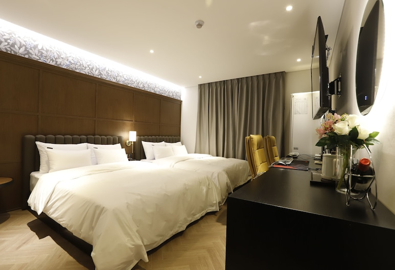 BrownDot Hotel Chungju Station, تشانغجو, غرفة ديلوكس بسريرين منفصلين, غرفة نزلاء
