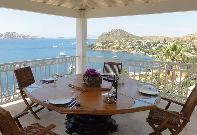 5 Star Luxury Green Royal 1 With Amazing View, Bodrum, Balkón