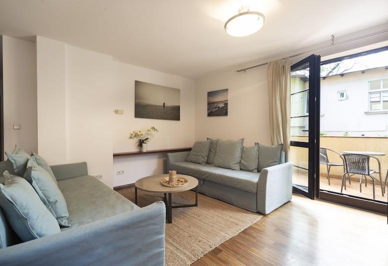 Apartment Tarifa - by the sea by Renters, Sopot, Departamento, 1 habitación, balcón, junto a la playa, Sala de estar