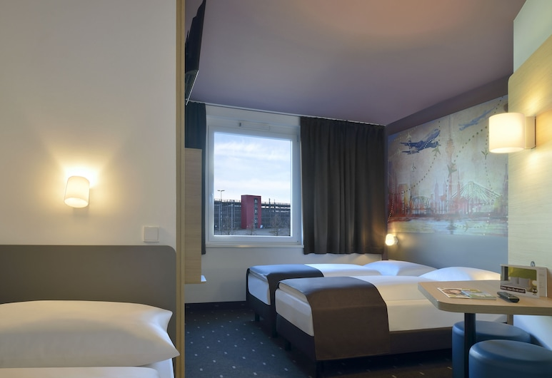 B&B Hotel Düsseldorf-Airport, Düsseldorf, 三人房, 客房