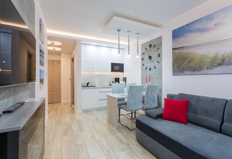 Ambria Apartments Ulanska, Swinoujscie, Išskirtinio dizaino butas, Svetainės zona