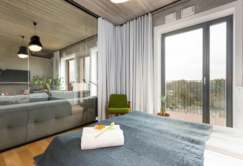 Apartment Praga Center by Renters, Warschau, Apartment, 1 Schlafzimmer, Balkon, Wohnbereich