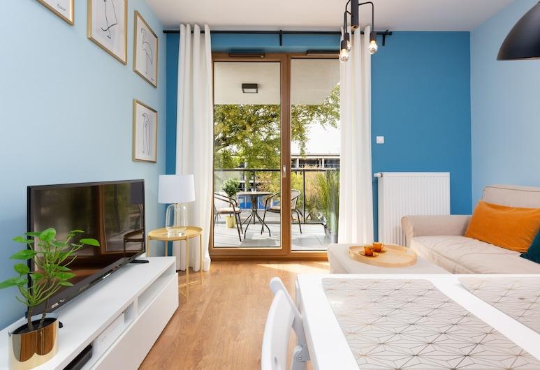 Apartment Business Center by Renters, Warschau, Apartment, 1 Schlafzimmer, Balkon, Wohnbereich