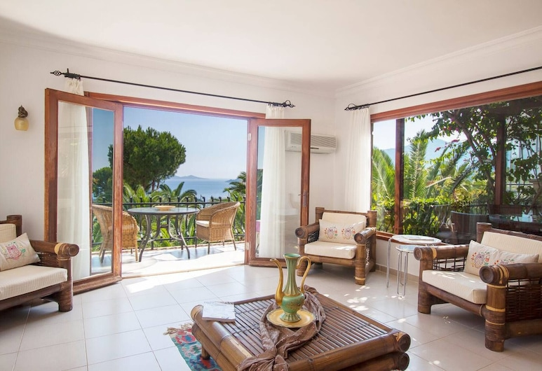 Palm View With Private And Infinity View, Kas, Living Room