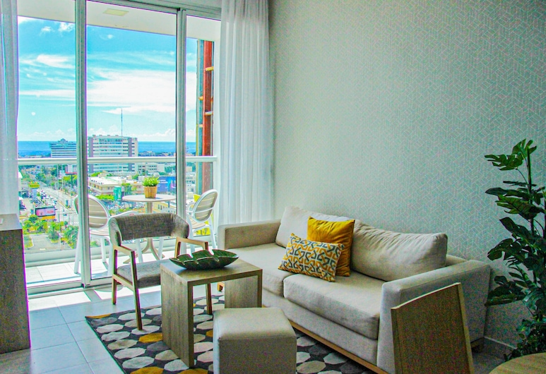 Tower Central - New Luxury - Ocean view, Santo Domingo, Business-lejlighed, Stue