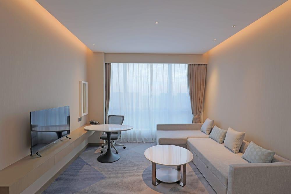 豪華套房, 1 張特大雙人床 - 客廳