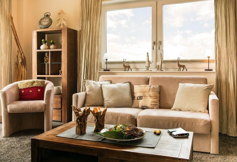 Panorama Lounge, Willingen (Upland), Külaliskorter, rõduga (incl. Cleaning and Service Fee), Elutuba