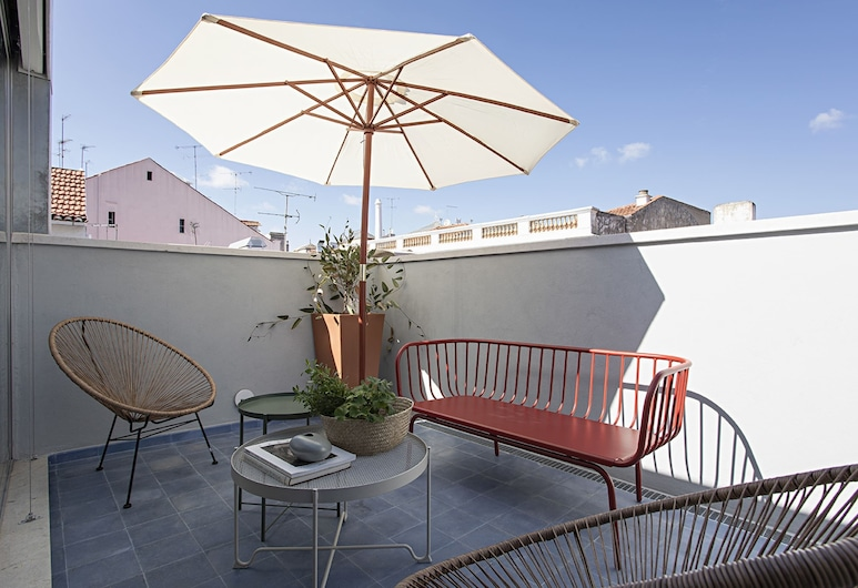 3bedroom Apartment With Terrace in Bairro Alto, 里斯本, 露台