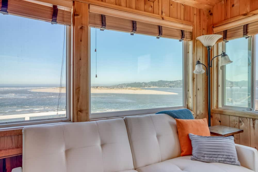 Ferienhaus, Mehrere Betten (Cliff House - Waldport) - Wohnzimmer