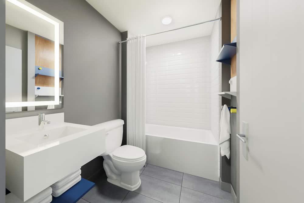 Номер, 2 двуспальные кровати «Квин-сайз», для некурящих (Efficiency) - Ванная комната