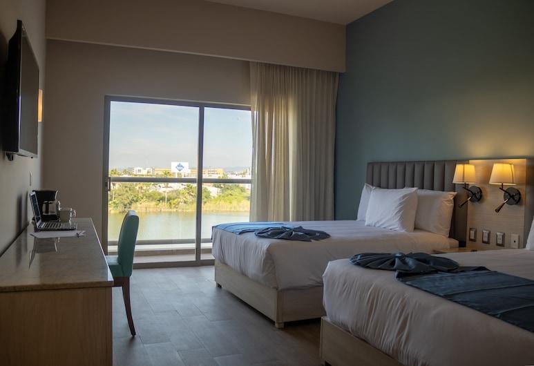 Varali Grand Hotel, Mazatlan, Dobbeltrom – standard, utsikt mot innsjø, Gjesterom