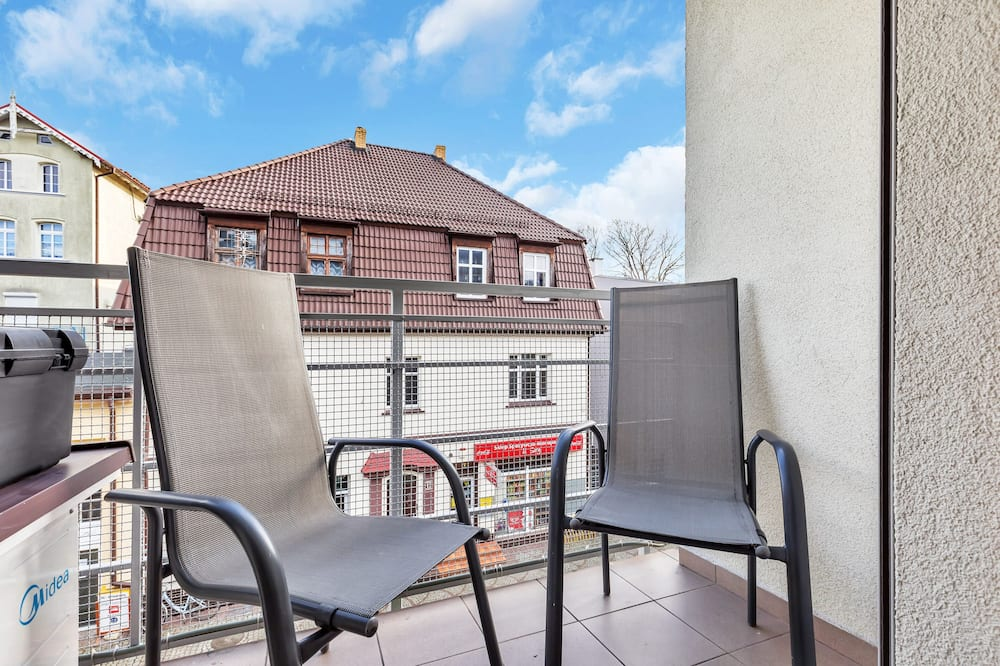 Apartament, 1 sypialnia, balkon, przy plaży - Balkon