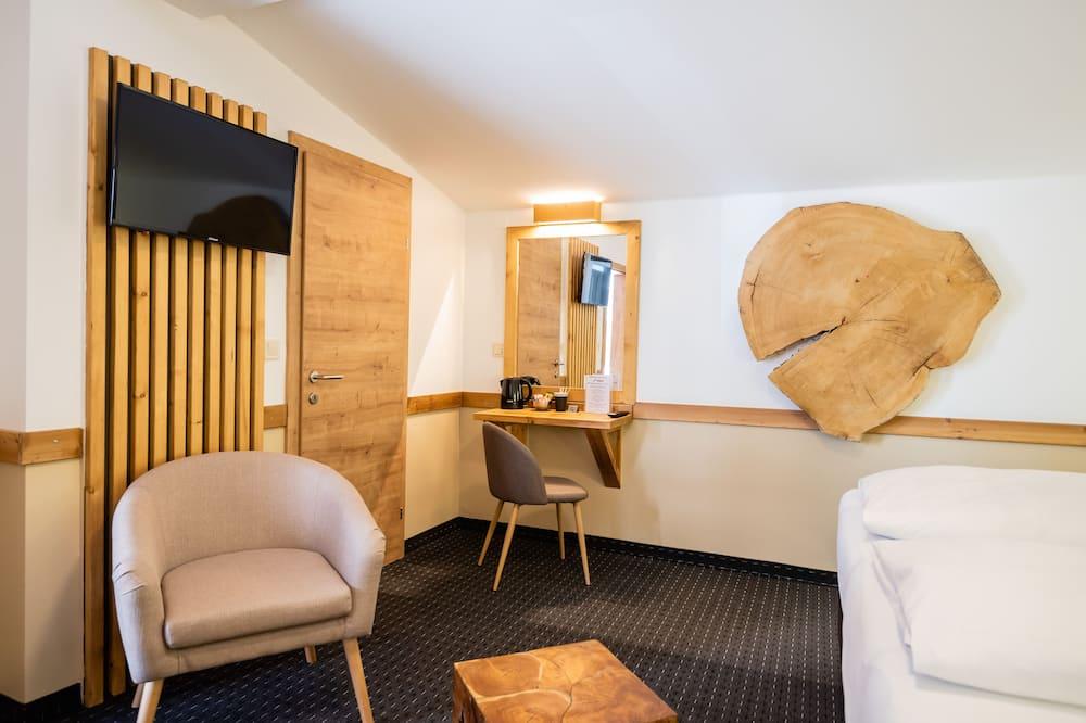 Driepersoonskamer (teilweise mit Terrasse) - Woonruimte