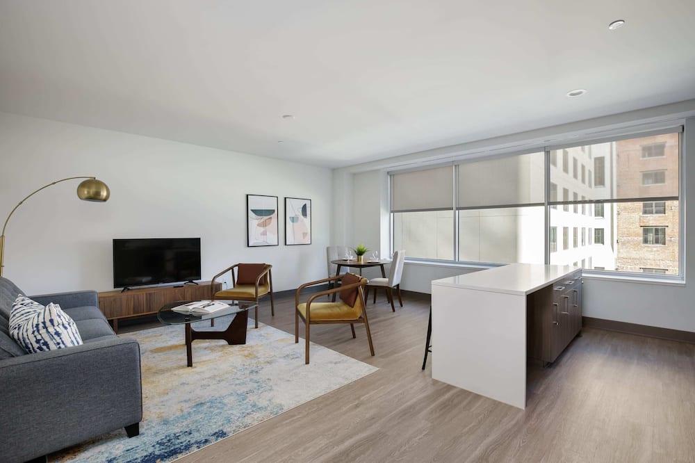 Apartament luksusowy, 1 sypialnia, dla niepalących - Salon