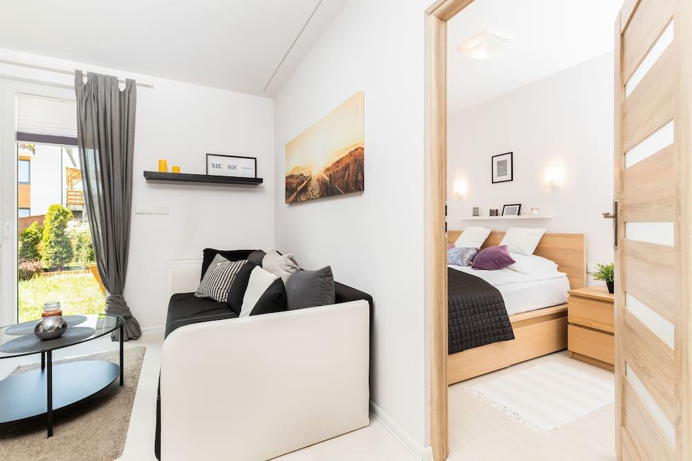 Apartmán, 1 spálňa, terasa - Obývačka