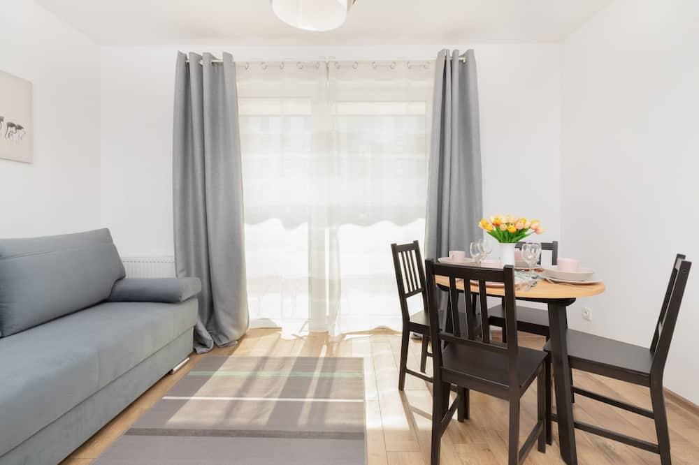 Apartmán, 1 spálňa, terasa - Obývacie priestory