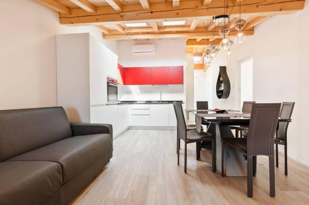 Apartmán, 1 spálňa (3P) - Obývacie priestory